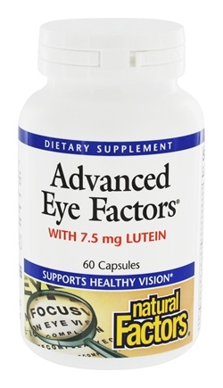 Natural Factors - Dr. Murray's Advanced Eye Factors with 15 mg Lutein - 60 Capsules