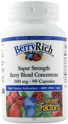 DROPPED: Natural Factors - BerryRich Super Strength Berry Blend Concentrate 500 mg. - 90 Capsules