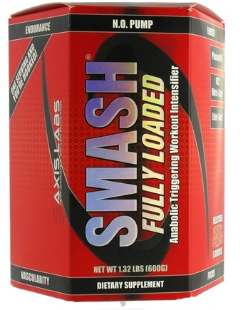 DROPPED: Axis Labs - Smash Fully Loaded Anabolic Triggering Workout Intensifier Fruit Punch - 1.32 lbs. CLEARANCE PRICED