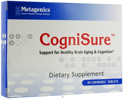 DROPPED: Metagenics - CogniSure Chocolate - 30 Chewable Tablets CLEARANCE PRICED