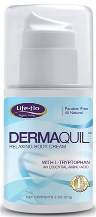 DROPPED: Life-Flo - DermaQuil Relaxing Body Cream With L-Tryptophan Essential Amino Acid - 2 oz.