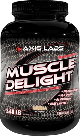 DROPPED: Axis Labs - Muscle Delight Protein Powder Vanilla - 2.48 lbs.