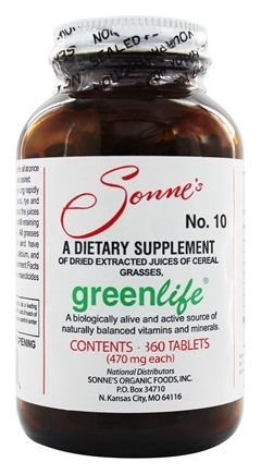 Sonne's - GreenLife #10 Multivitamin & Mineral Dietary Supplement - 360 Tablets