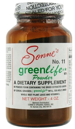DROPPED: Sonne's - GreenLife Powder #11 Nature's Multivitamin & Mineral CLEARANCE PRICED - 4 oz.