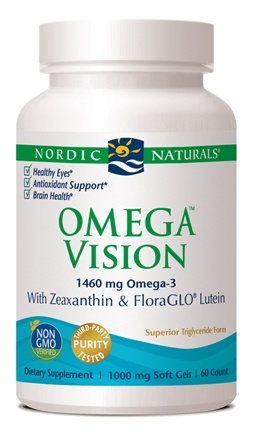 Nordic Naturals - Omega Vision with Zeaxanthin & FloraGLO Lutein 1000 mg. - 60 Softgels