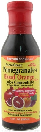 DROPPED: Jarrow Formulas - PomeGreat Pomegranate + Blood Orange with Grape Juice Concentrate - 12 oz.