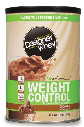 DROPPED: Designer Protein - Designer Whey Weight Control Protein Supplement Chocolate - 12 oz. CLEARANCE PRICED