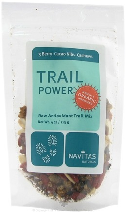 DROPPED: Navitas Naturals - Trail Power 3 Berry-Cacao Nibs-Cashews Certified Organic - 4 oz.