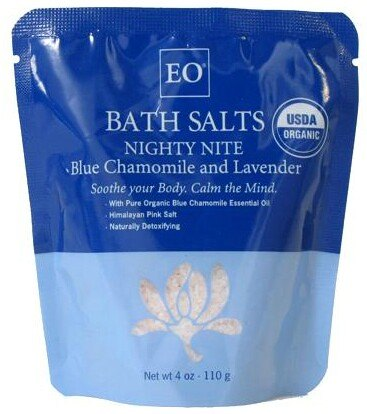 DROPPED: EO Products - Bath Salts Nighty Nite Blue Chamomile & Lavender - 4 oz.