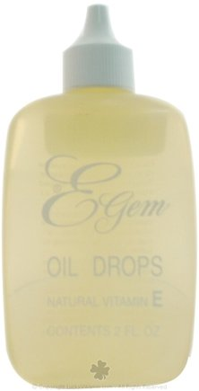 DROPPED: Carlson Labs - E-Gem Natural Vitamin E Oil Drops - 2 oz.