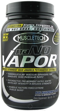 DROPPED: Muscletech Products - naNO Vapor Blue Raspberry Fusion - 3 lbs.