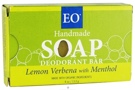 DROPPED: EO Products - Handmade Soap Deodorant Bar Lemon Verbena with Menthol - 4 oz. CLEARANCE PRICED