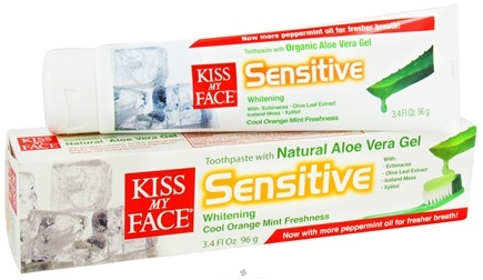 Zoom View - Toothpaste Certified Organic Aloe Vera Gel Sensitive Whitening