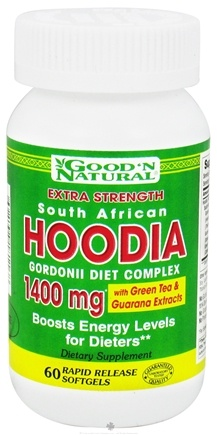 DROPPED: Good 'N Natural - South African Hoodia Gordonii Diet Complex Extra Strength 1400 mg. - 60 Softgels