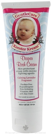 Zoom View - Keester Kream Diaper Rash Cream Calming Lavender Fragrance