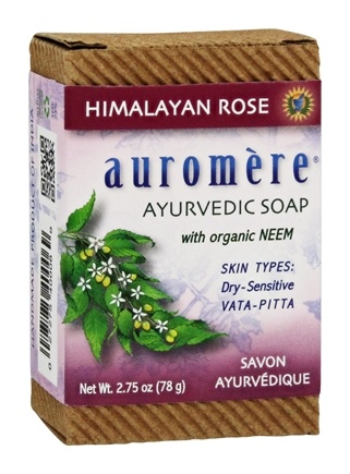 Auromere - Ayurvedic Bar Soap with Organic Neem Himalayan Rose - 2.75 oz.