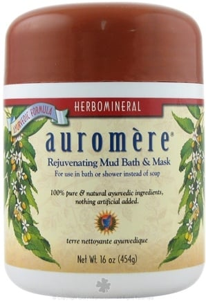 DROPPED: Auromere - Herbomineral Rejuvenating Mud Bath & Mask - 16 oz. CLEARANCE PRICED