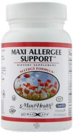 DROPPED: Maxi-Health Research Kosher Vitamins - Maxi Allergee Support - 60 Capsules