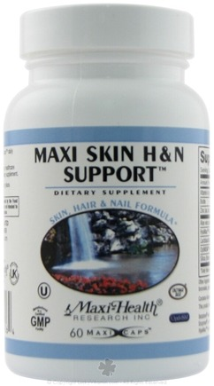 DROPPED: Maxi-Health Research Kosher Vitamins - Maxi Skin H & N Support Skin Hair & Nail Formula - 60 Capsules
