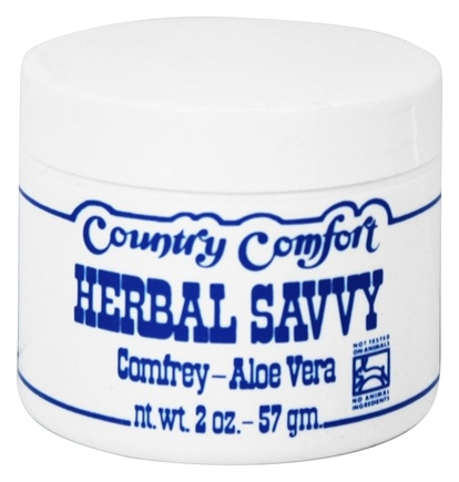 Country Comfort Herbals - Herbal Savvy Comfrey-Aloe Vera - 2 oz.