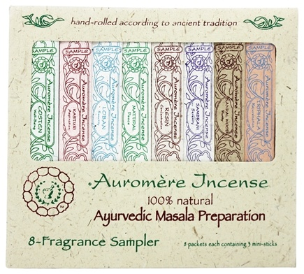Zoom View - Ayurvedic Incense 8 Fragrance Sampler