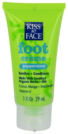 DROPPED: Kiss My Face - Foot Creme Peppermint - 1 oz. (29 mL) CLEARANCE PRICED