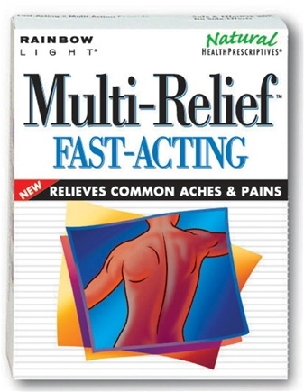 DROPPED: Rainbow Light - Multi-Relief Fast Acting - 30 Tablets (Formerly Multilieve Fast Relief)