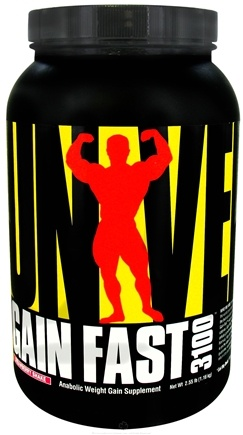 DROPPED: Universal Nutrition - Gain Fast 3100 Strawberry Shake - 2.55 lbs.