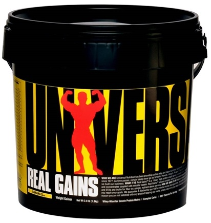DROPPED: Universal Nutrition - Real Gains Weight Gainer Banana Ice Cream - 6.8 lbs. CLEARANCE PRICED