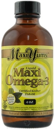 DROPPED: Maxi-Health Research Kosher Vitamins - MaxiYums Liquid Maxi Omega-3 Certified Kosher Fish Oil Natural Lemon - 4 oz.