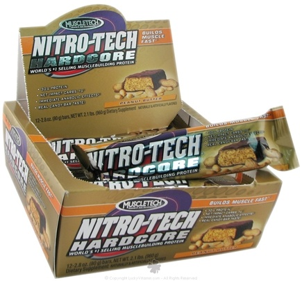 DROPPED: Muscletech Products - Nitro-Tech Hardcore Bar Peanut Butter - 2.8 oz.