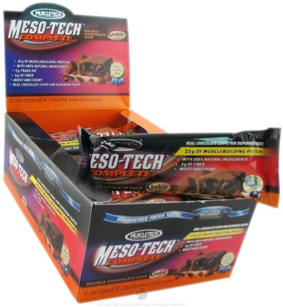 DROPPED: Muscletech Products - Meso-Tech Complete Bar Double Chocolate Chip - 1 Bars
