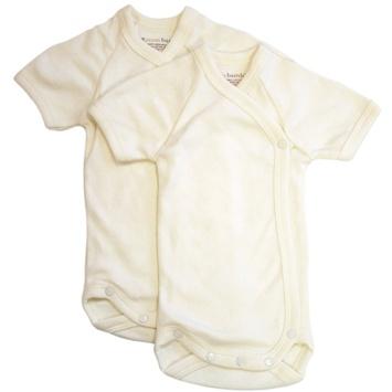 DROPPED: Piccolo Bambino - Baby Bodysuit 3-6 Months Ivory - 2 Pack(s) CLEARANCE PRICED