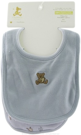 Zoom View - Organic Cotton Bib Set Blue
