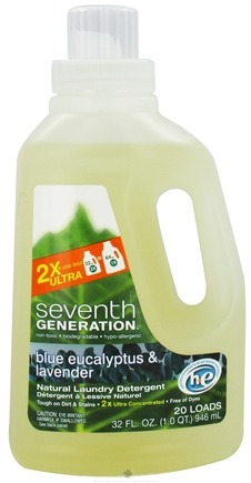 DROPPED: Seventh Generation - 2x Liquid Laundry Detergent Blue Eucalyptus & Lavender - 32 oz.