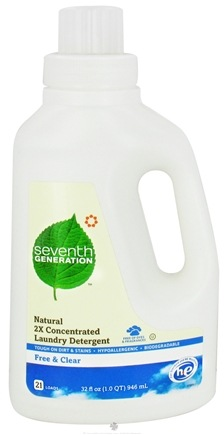 DROPPED: Seventh Generation - Natural 2X Concentrated Liquid Laundry Detergent Free & Clear - 32 oz.