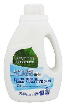 Seventh Generation - Natural Liquid Laundry Detergent Free & Clear - 50 oz.