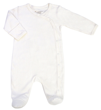 Zoom View - Footed Sleeper 3-6 Months Ivory
