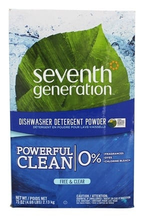 Seventh Generation - Automatic Dishwasher Powder Free & Clear - 75 oz.