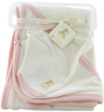 DROPPED: Piccolo Bambino - Hooded Towel and Wash Mitt Pink