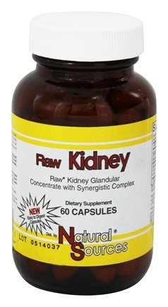 DROPPED: Natural Sources - Raw Kidney - 60 Capsules