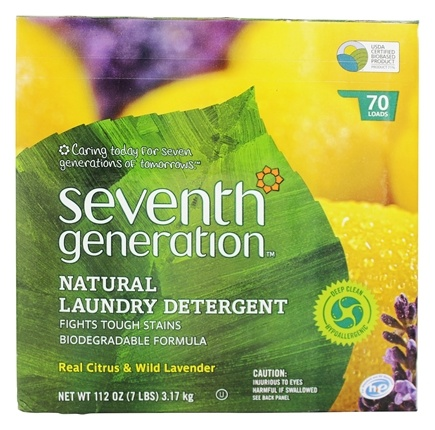 DROPPED: Seventh Generation - Natural Laundry Detergent Real Citrus & Wild Lavender - 112 oz.