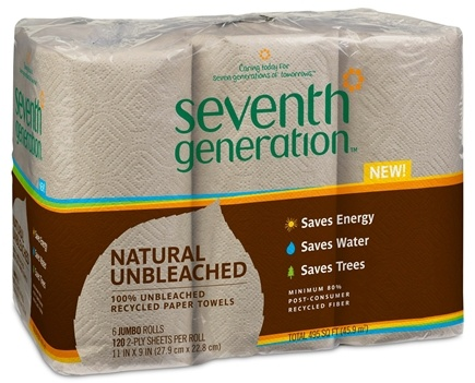 DROPPED: Seventh Generation - Paper Towels 100% Recycled 2-Ply 120 Sheets - 6 Roll(s)