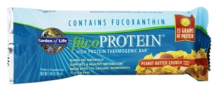 Garden of Life - FucoProtein High Protein Thermogenic Bar Peanut Butter Crunch - 1.94 oz.