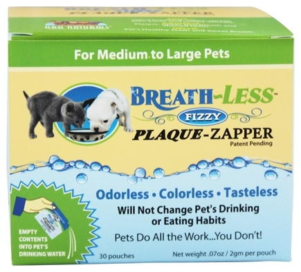 DROPPED: Ark Naturals - Breath-Less Fizzy Plaque-Zapper for Medium to Large Pets - 30 Packet(s)