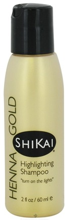 DROPPED: Shikai - Henna Gold Highlighting Shampoo - 2 oz. CLEARANCE PRICED