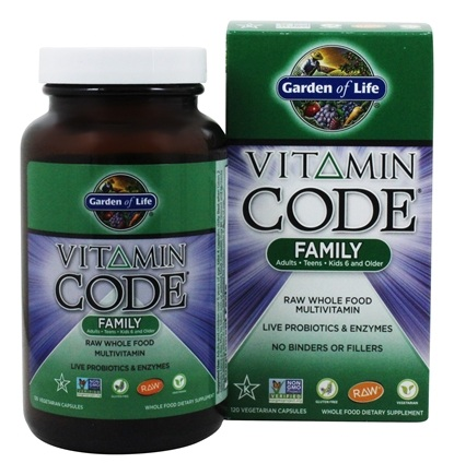 Buy Garden of Life - Vitamin Code Family Multi Formula - 120 ...
