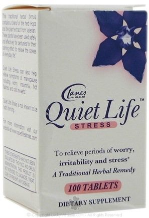 DROPPED: Lanes Health - Quiet Life Stress - 100 Tablets