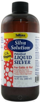 DROPPED: Trimedica - Silva Solution - Potentized Liquid Silver - For Colds & Flu 10 Ppm - 16 oz.