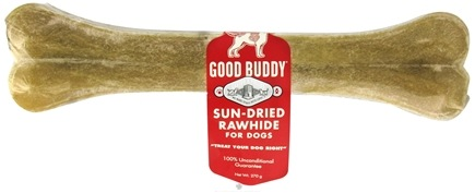 Zoom View - Good Buddy Sun-Dried Rawhide Pressed Bone For Dogs